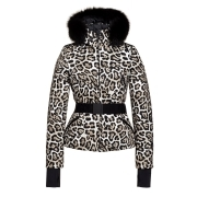 Goldbergh Wild Ski Jacket Saga Fur Trim in Leopard