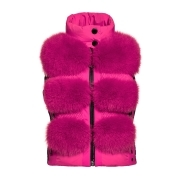 Goldbergh Foxy Saga Fur Gilet Wow Pink