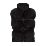 Goldbergh Foxy Saga Fur Gilet Black