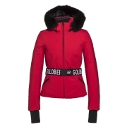 Goldbergh Hida Ski Jacket Saga Fur Trim Ruby Red