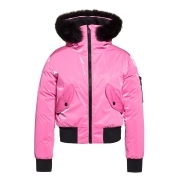 Goldbergh Bomba Ski Jacket Saga Fur Trim Pink