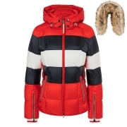 Bogner Colly-D Ski Jacket in Red with Fur Trim