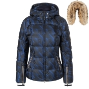 Bogner Coro-D Ski Jacket in Blue with Fur Trim