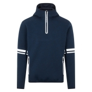 J.Lindeberg Logo Hood Midlayer in Navy