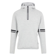 J.Lindeberg Logo Hood Midlayer in Grey