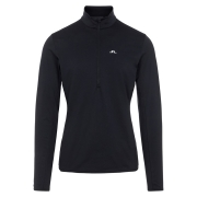J.Lindeberg Luke Half Zip Midlayer in Black