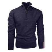 Amundsen Half Zip Mens Knit in Navy