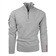 Amundsen Peak Half Zip Mens Knit in Grey