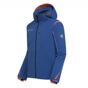 Descente Mens Isak Ski Jacket in Blue/Orange