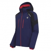 Descente Mens Slade Ski Jacket in Blue/Black/Red