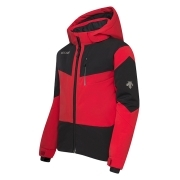 Descente Jr Beckett Ski Jacket in Black/Red