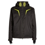 Armani EA7 Mens Ski Jacket in Black and Lime