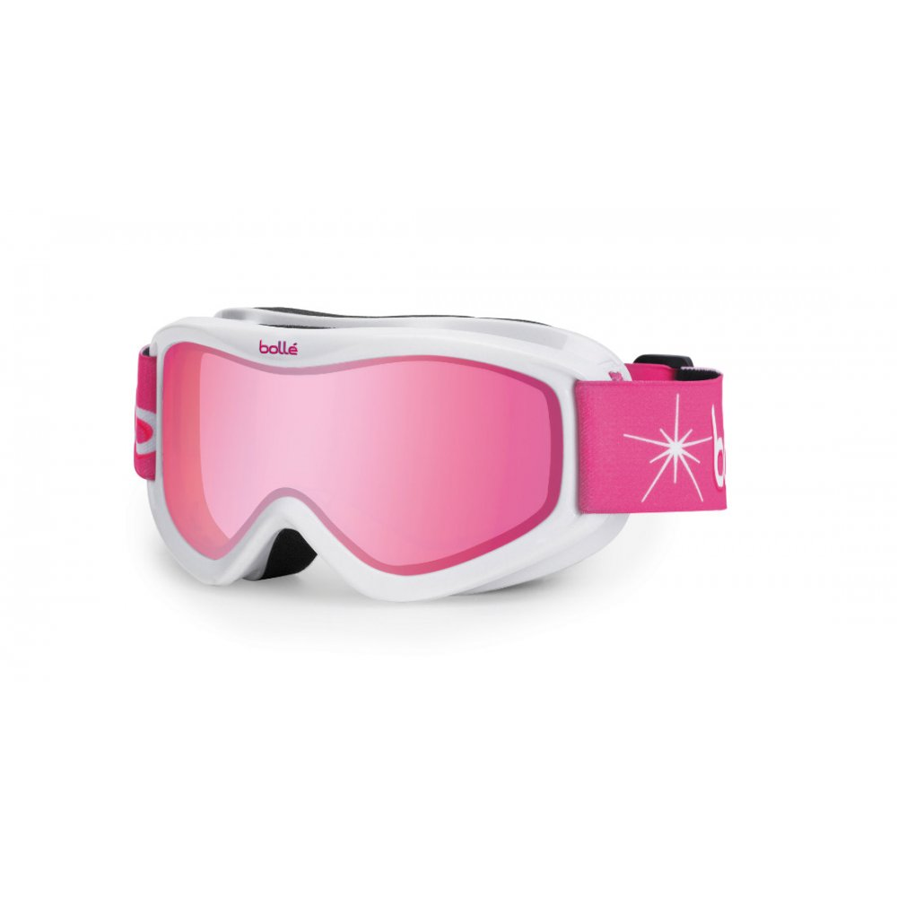 3d560e28daa9 Bolle Amp White Night Kids Ski Goggle with Vermillon Lens