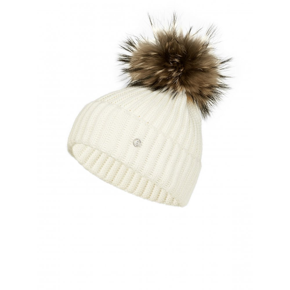 436fcd1e520 Bogner Leonie Womens Designer Ski Hat in Cream