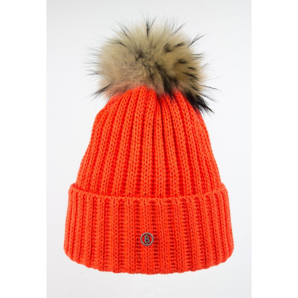 820af9f45f1 Bogner Leonie Womens Designer Ski Hat in Orange