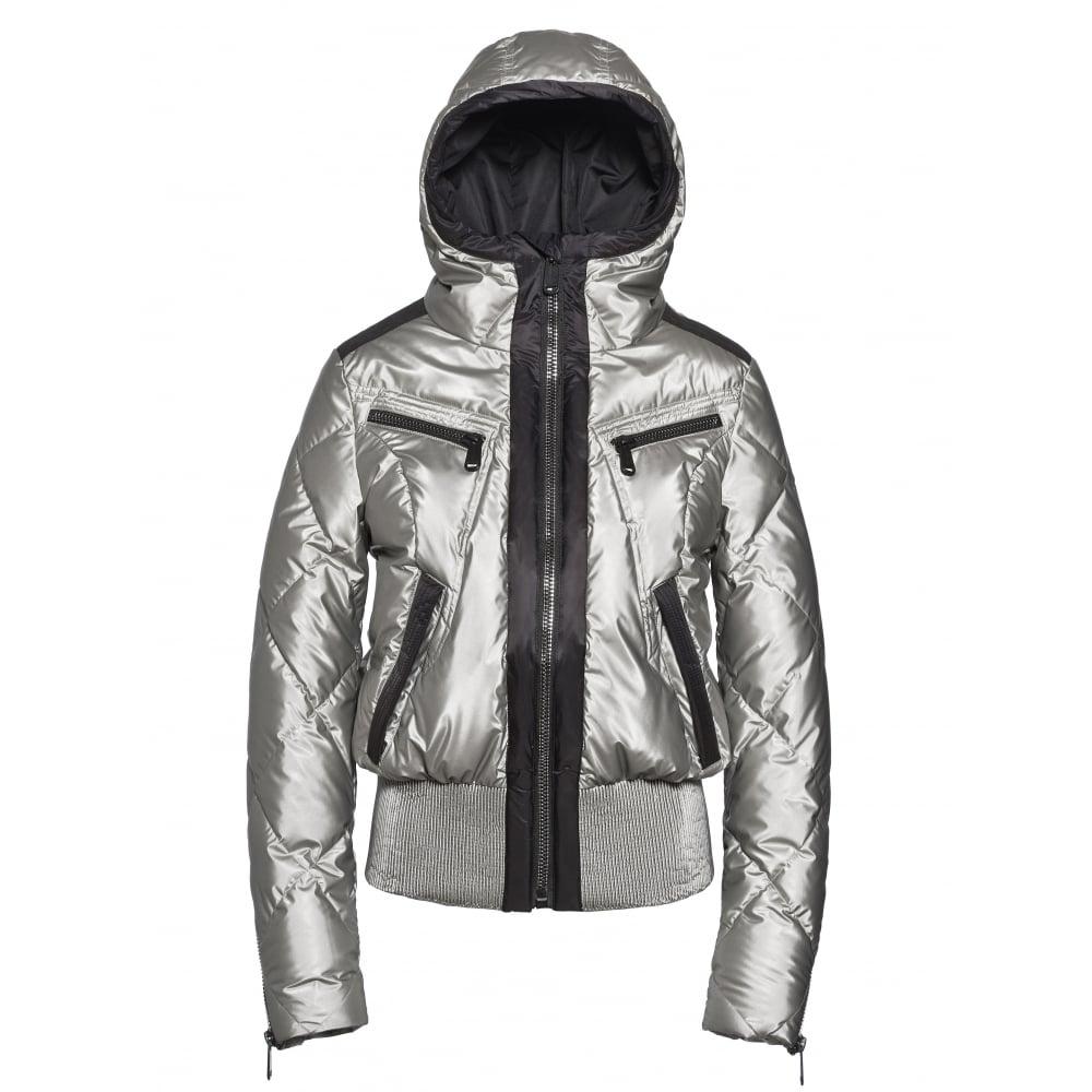 Goldbergh Ski Jacket - Goldbergh Henriette - Womens Silver ...