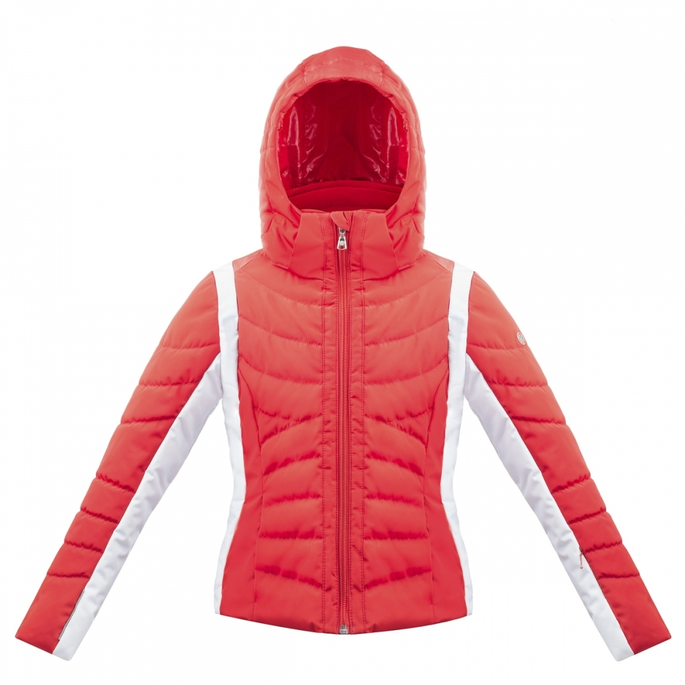 Poivre Blanc Girls Quilted Ski Jacket Girls Red Poivre