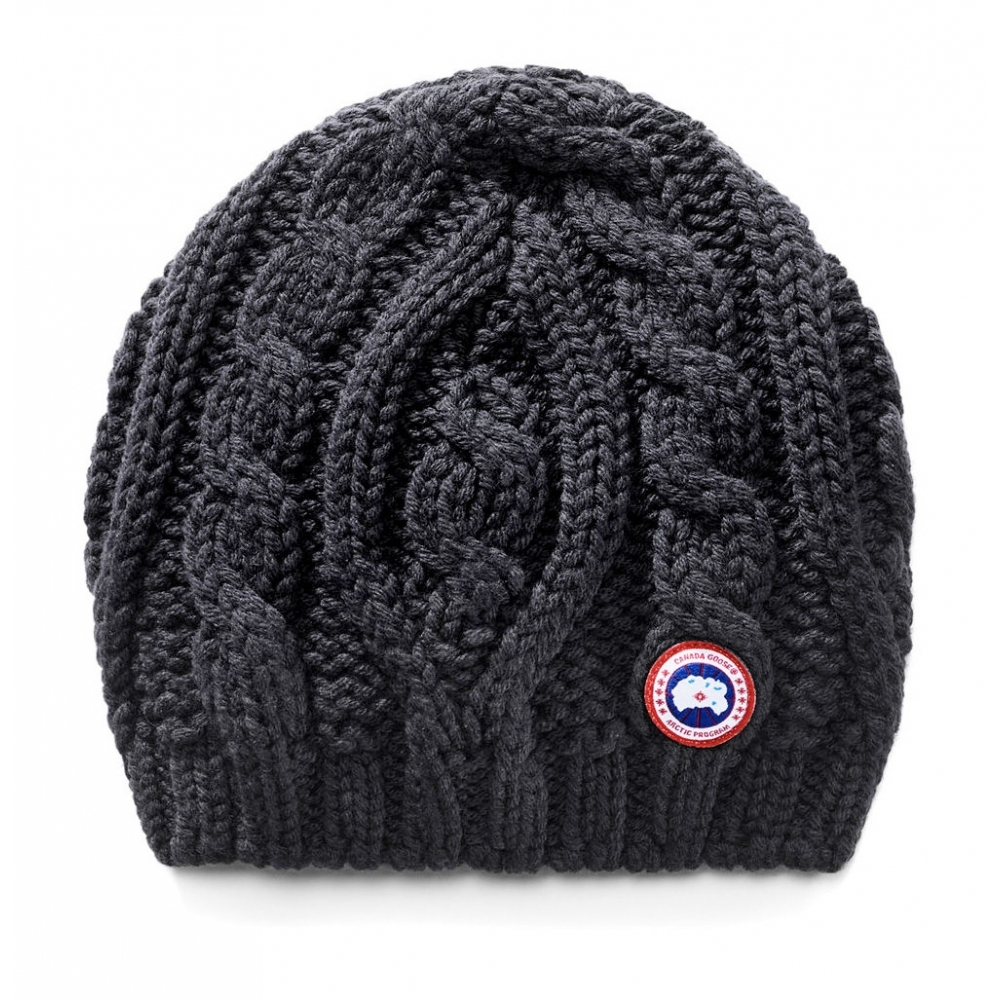 8be01ee21e8 Canada Goose Canada Goose Chunky Cable Knit Womens Hat In Black - Canada  Goose from White Stone UK