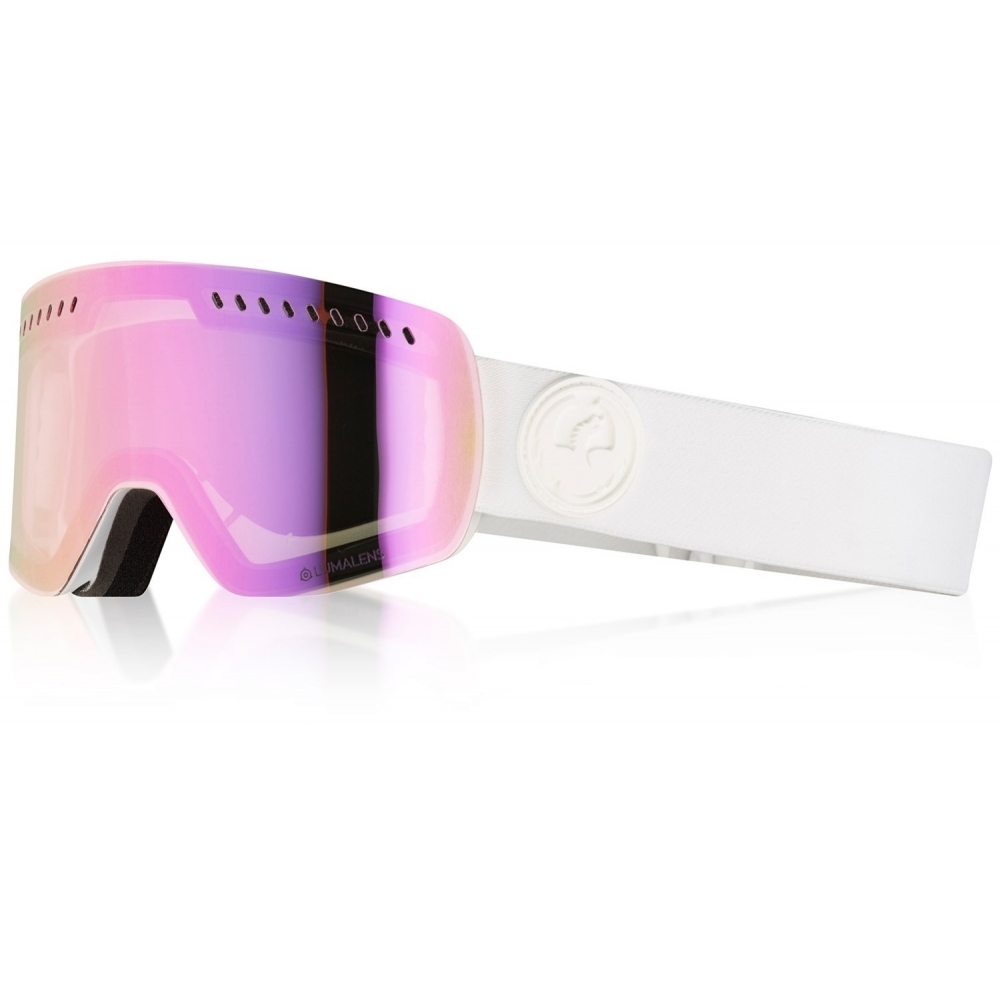 e2aee3cec04 Dragon Alliance Dragon NFXs Ski Goggle in Whiteout with LumaLens Pink Ion