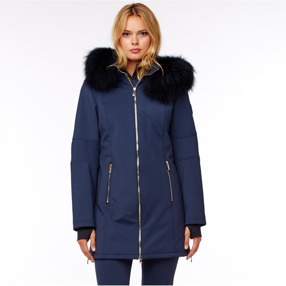 M Miller Astrid Womens Winter Coat In Navy M Miller