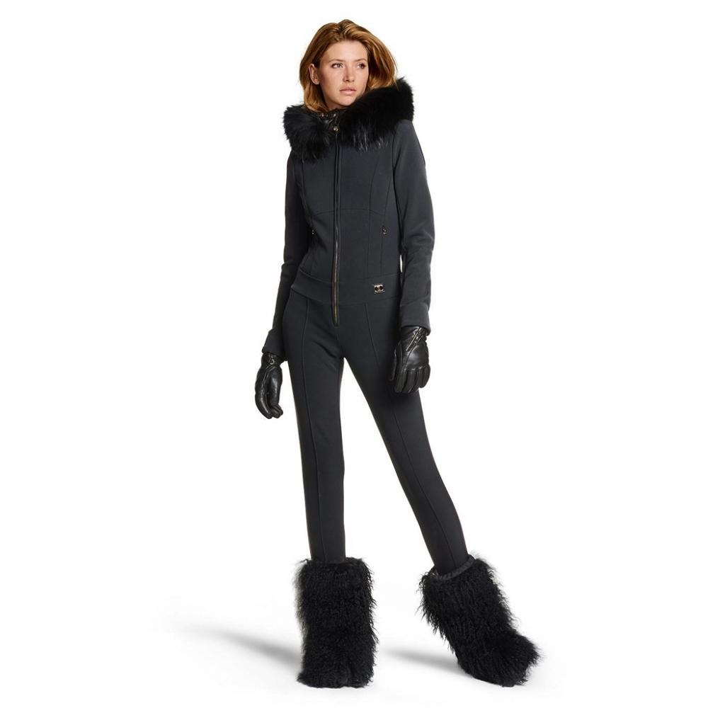 Bogner Mila D Womens Softshell Ski Suit In Black