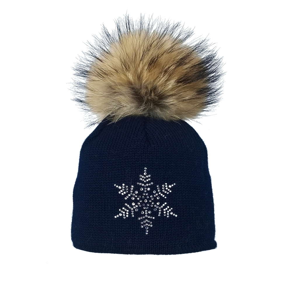 780cb4cd44b Steffner Sky Womens Designer Ski Hat In Navy