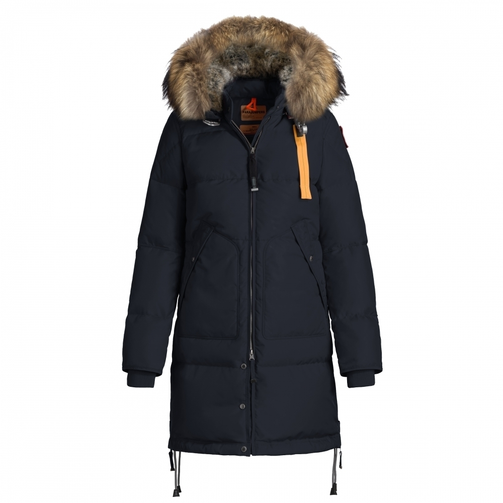 parajumpers long bear womens winter coat in navy. Black Bedroom Furniture Sets. Home Design Ideas